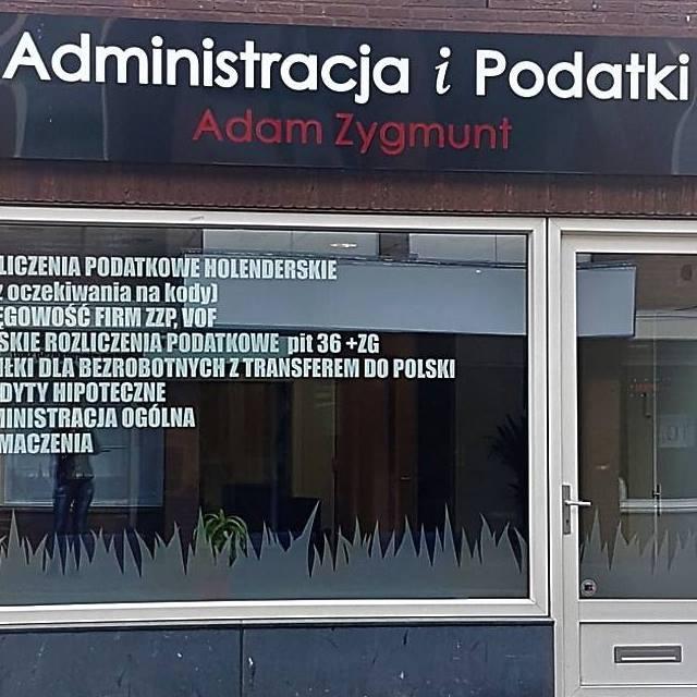 Adm. & Belasting. Adam Zygmunt